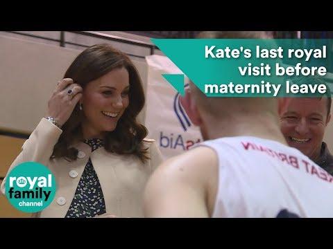 Pregnant Kate's last royal visit before maternity leave