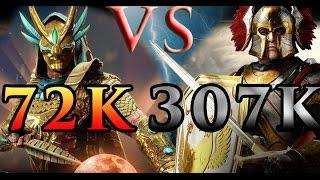 Dawn of Titans - Win at all cost! Ranger total disaster battle - 72k VS 307k