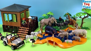Playmobil African Safari Theme - Fun Animals Toys For Kids