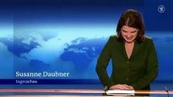 ★PANNE★ Tagesschau-Sprecherin Susanne Daubner lacht, schweigt und gähnt