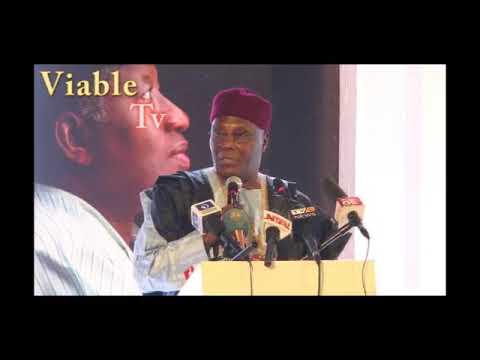 Atiku Speaks, Steals Show At Jonathan's Book Launch