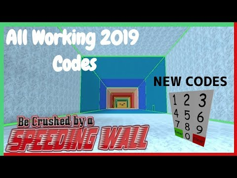 All New Working Be Crushed By A Speeding Wall Codes 2019 - be crushed by a speeding wall roblox codes