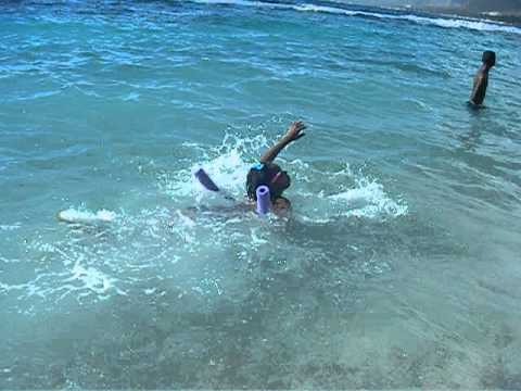 Learning to swim in Haiti
