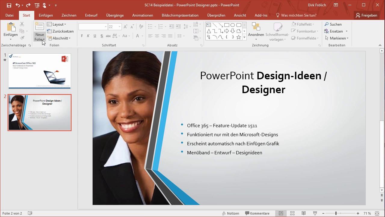 Df Sc 14 Powerpoint 365 Design Ideen Youtube