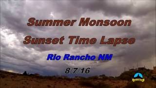 summer monsoon sunset time lapse rio rancho nm 8 7 16 yt