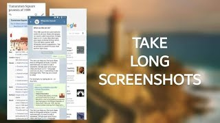 How To Take Long Screenshots In Android Device | Scroll Capture | Capture Full Websites | 2018 |