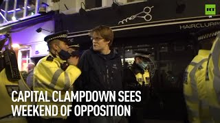 Anti-lockdown protesters revolt against the capital clampdown