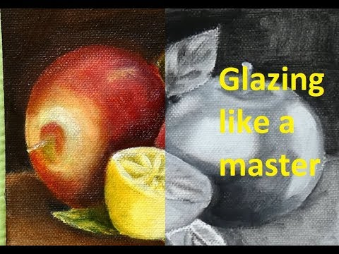 Oil Color Glazing like a 'Master' - How to glaze / Tutorial