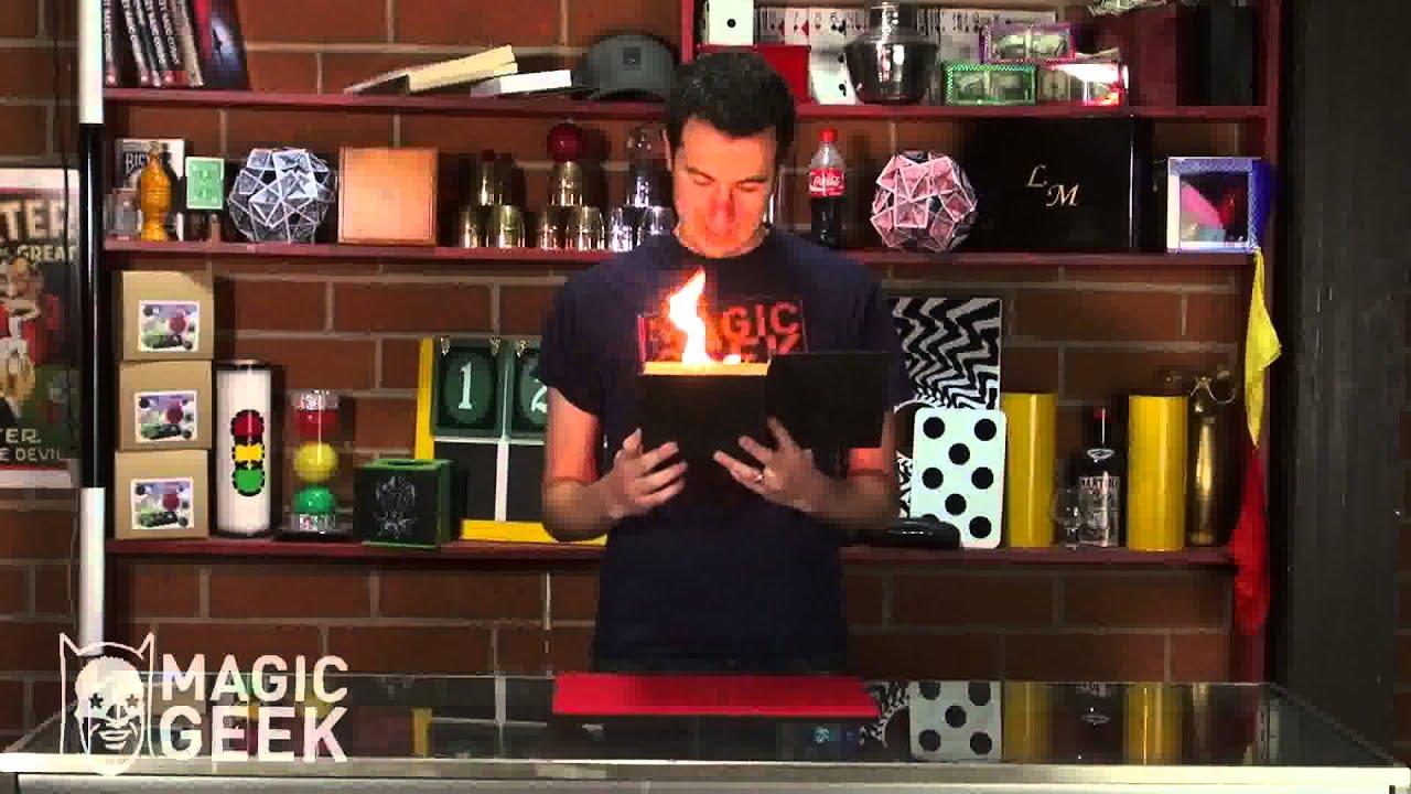The magic coloring book trick - Flaming Book Magic Trick
