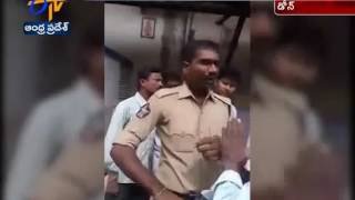 Police Over action On Farmer at a Bank in Dhone of Kurnool