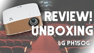 Unboxing & Review - LG MiniBeam PH150G - Mini proyector LED HD Portátil