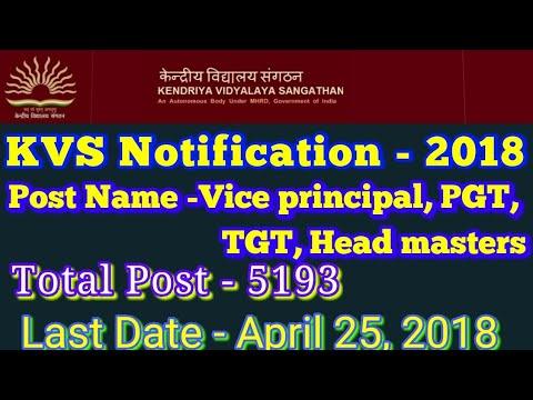 KVS Recruitment Notification 2018 by Online Study Bites