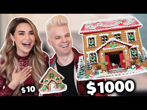 $10 Gingerbread House Vs. $1000 Gingerbread House