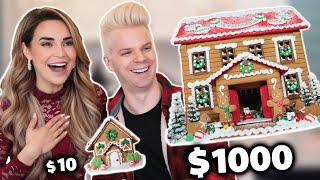 Download $10 Gingerbread House Vs. $1000 Gingerbread House Mp3 and Videos