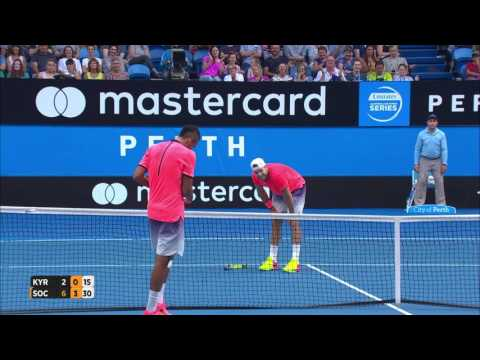 Nick Kyrgios v Jack Sock highlights (RR) - Mastercard Hopman Cup