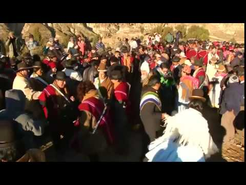 Bolivia's Aymara celebrate the winter solstice