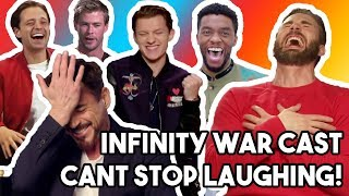 AVENGERS INFINITY WAR CAST LAUGHING LIKE IDIOTS!