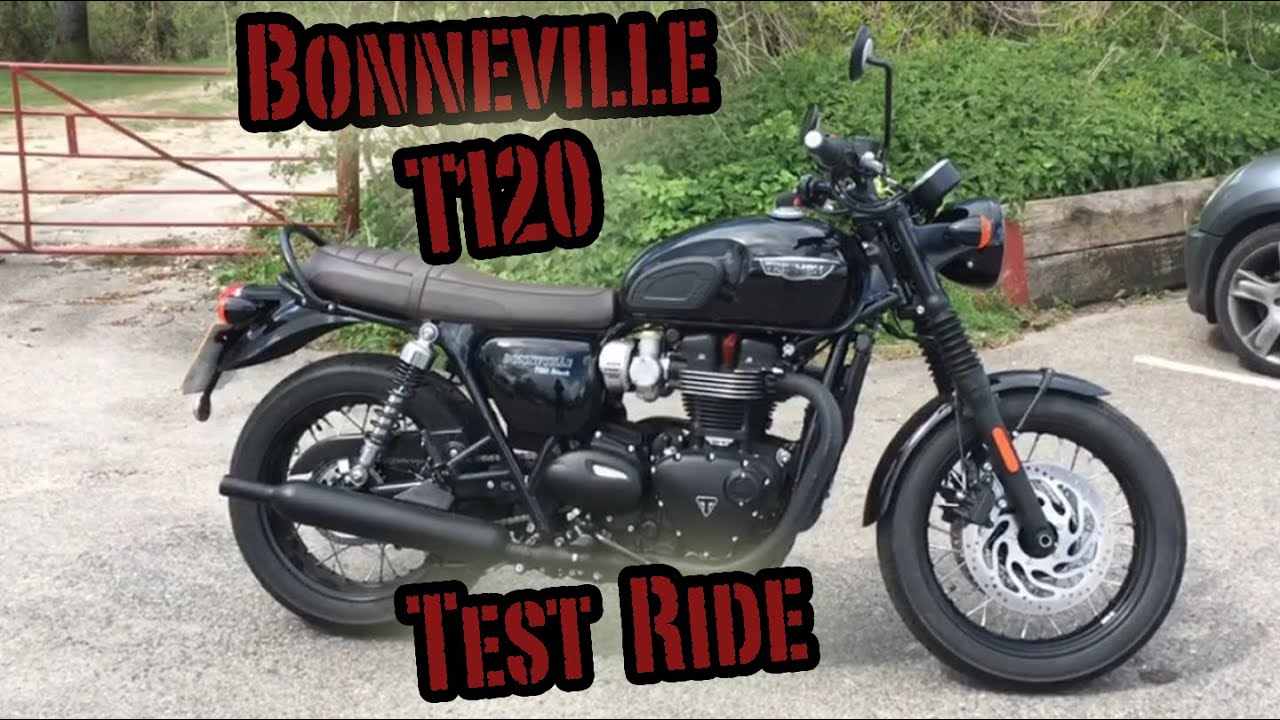 triumph bonneville t120 black test ride youtube. Black Bedroom Furniture Sets. Home Design Ideas