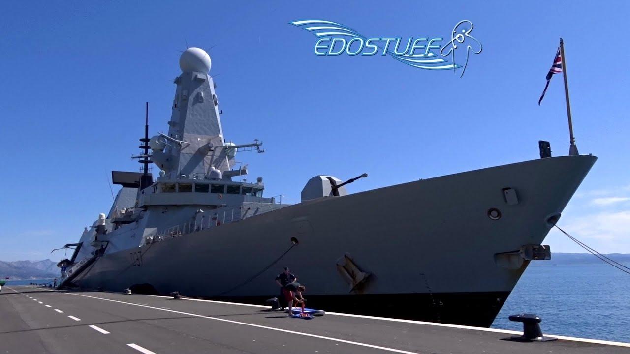 On Board Royal Navy HMS Duncan D37 - Split Harbor - Croatia
