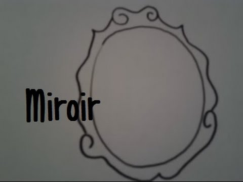 Dessiner un miroir youtube for Dessin miroir bris