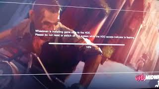 PS3 STOPS INSTALLING GAME DATA ON 21% WHEELMAN