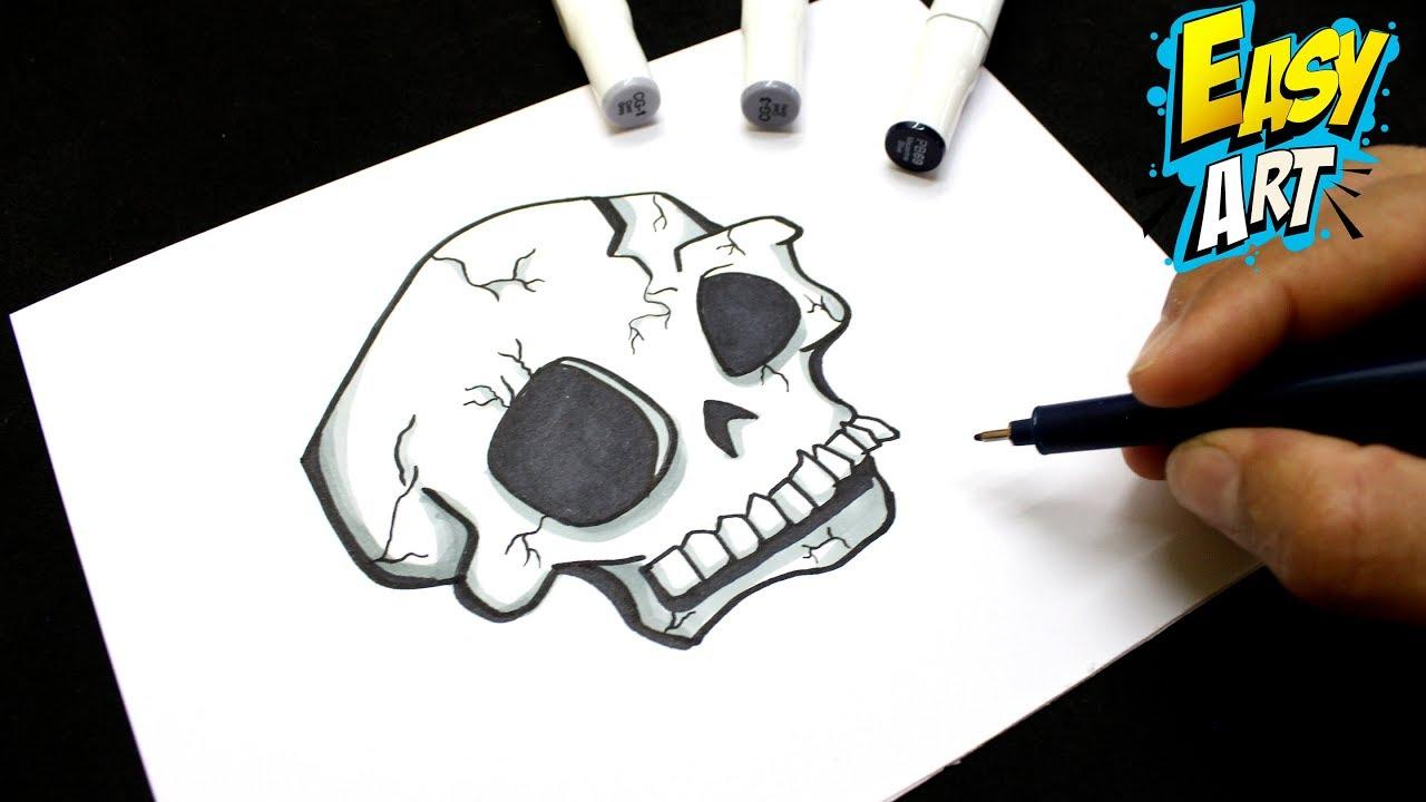 Como Dibujar Una Calavera Halloween How To Draw Skull Dibujos