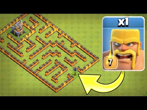 ONE TROOP vs ONE MAZE BASE!! 🔥 IMPOSSIBLE TROOP CHALLENGE IN CLASH OF CLANS! 🔥