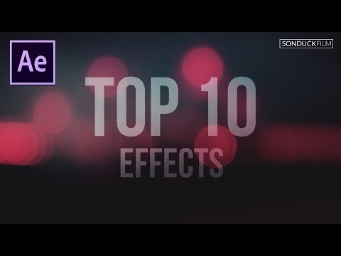 Top 10 Best Effects in After Effects