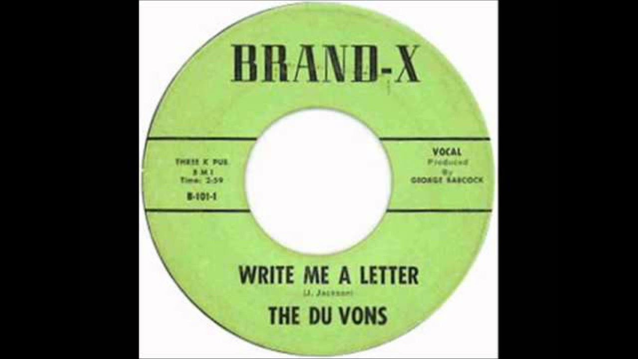 du vons write me a letter come back baby brand x 101 1958 - Write Me A Cover Letter
