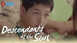 Descendants of the Sun EP3 Song Hye Kyo Draws Song Joong Ki 39 s Blood Eng Sub