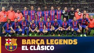 """رياضة  بالفيديو.. رونالدينيو يقود برشلونة للفوز بـ""""كلاسيكو الأساطير"""""""