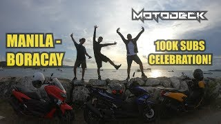 MOTORCYCLE RIDE TO BORACAY| 100K SUBSCRIBERS CELEBRATION
