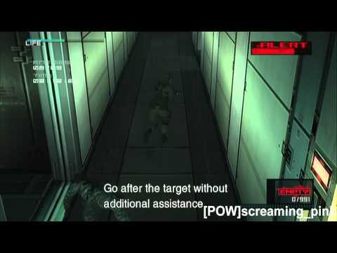 Pliskin Elimination Mode levels 1-10 MGS 2 HD VR Missions Part 43