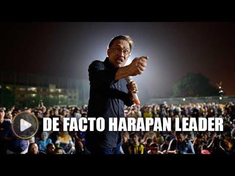Anwar chosen as de facto Harapan leader