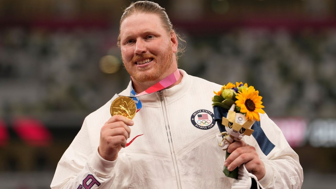 USA's Ryan Crouser Sets Olympic Shot Put Record And Wins Gold ...