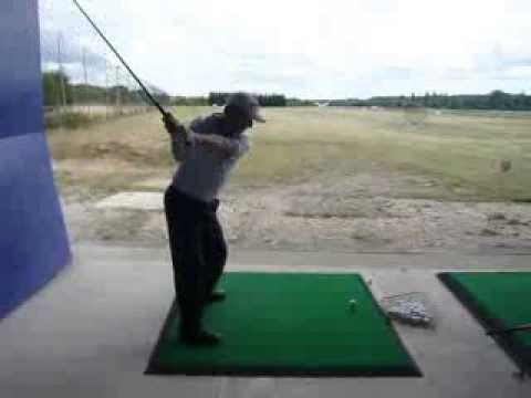 John Hoskison Driver Golf Swing Down The Line Youtube