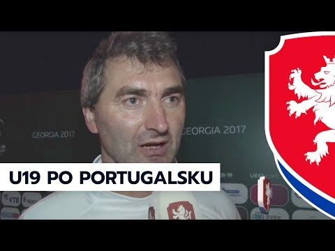 Po utkání ČR - Portugalsko (1:2) na ME U19 v Gruzii (5. 7. 2017)