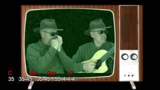 Nº 067 My Way- A mi manera (Frank Sinatra) Armonica C tutorial diat+chords guitar Mundharmonika