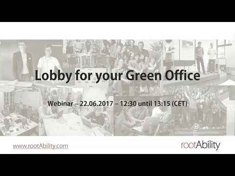 How To Lobby For Your Green Office
