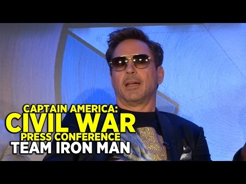 FULL 'Captain America: Civil War' press conference (PART 1: TEAM IRON MAN) with cast and directors