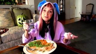 mukbang seitan meat and mashed sweet potatoes vegan plant based vegan mama mi