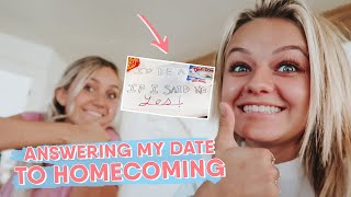 ANSWERING MY DATE BACK TO HOMECOMING! || KESLEY JADE LEROY