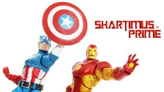 Marvel Legends Captain America & Iron Man Vintage Collection Super Heroes Hasbro Figure Toy Review streaming