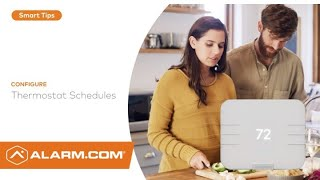 How to Schedule Your Alarm.com Smart Thermostat (Mobile App)