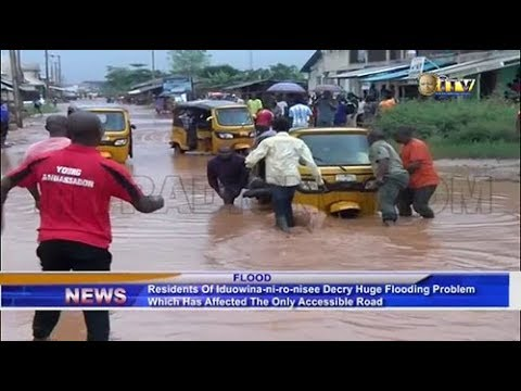 Benin residents decry flooding problem