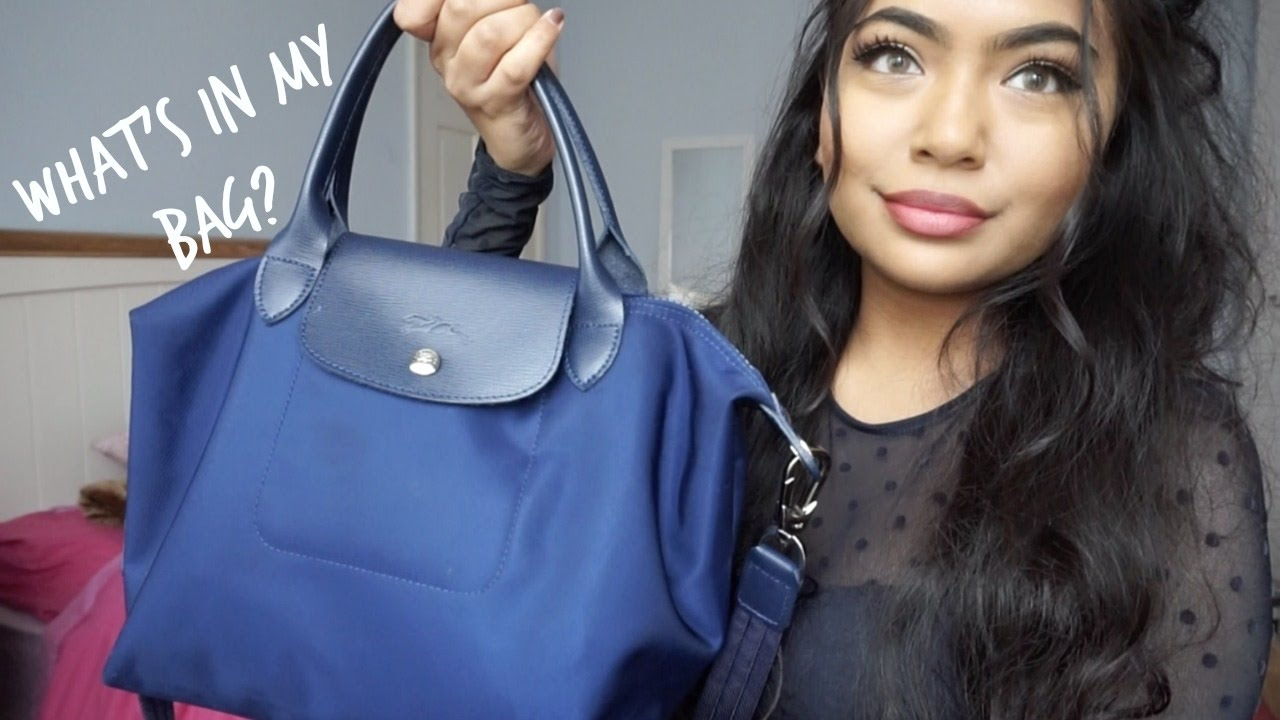 8721b72c9 What's In My Bag 2017 - Longchamp Le Pliage Neo - YouTube