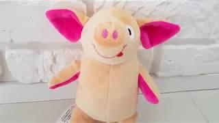 0:01 / 0:27 Мягкая игрушка свинка поросенок Пупсик бежево-розовый (символ 2019 года) обзор