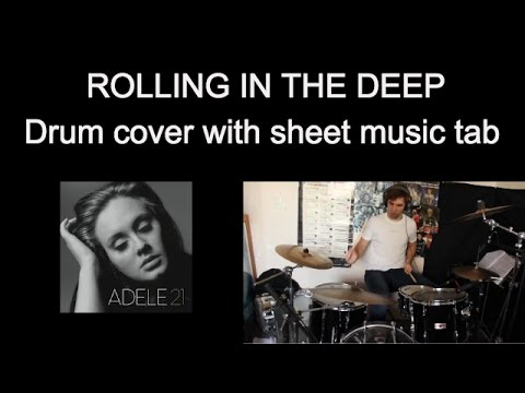 Adele Rolling In The Deep - Drum Cover With Sheet Music Tab #21