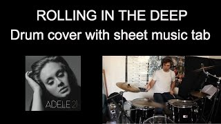 Baixar Adele Rolling In The Deep - Drum Cover With Sheet Music Tab #21
