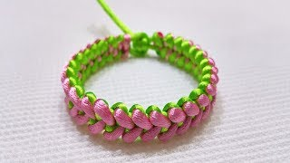DIY Friendship Bracelets. 1 Easy DIY Bracelet Project, cách tết vòng tay đẹp [macrame bracelet]